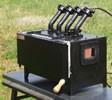 Whisper Daddy Four Burner w/open end ports Gas Forge
